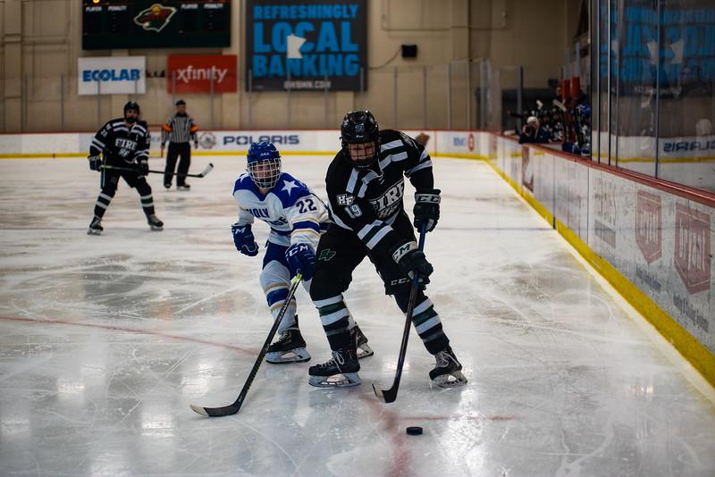 Holy Family Boys Varsity Hockey vs. Academy of Holy Angels, 12/21/19: Nick Blood '22 (19)