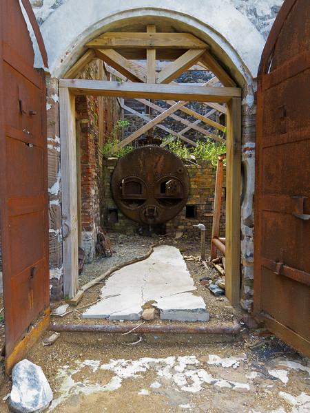 Boiler at Creque Marine Railway on Hassel Island, St Thomas