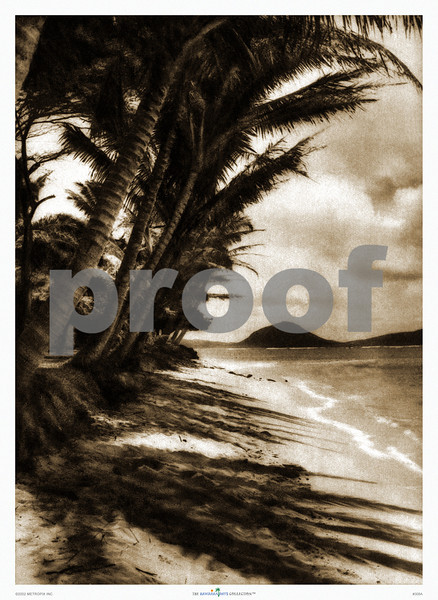 308: 'Beach at Lanikai' Photograph. Ca. 1926. (PROOF watermark will not appear on your print)