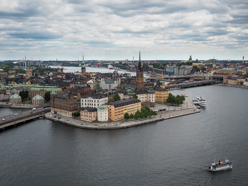 Gamla Stan from City Hall Tower in Stockholm
