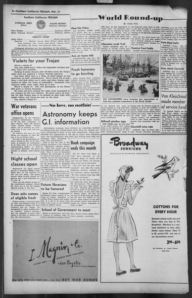 The Trojan, Vol. 35, No. 100, March 31, 1944