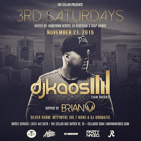3rd Saturday @ CellarSF 11.21
