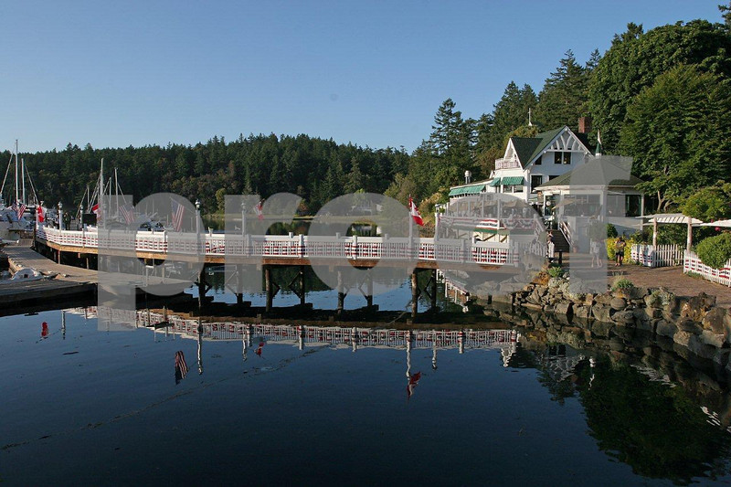 The resort at Roche Harbor on San Juan Island.
