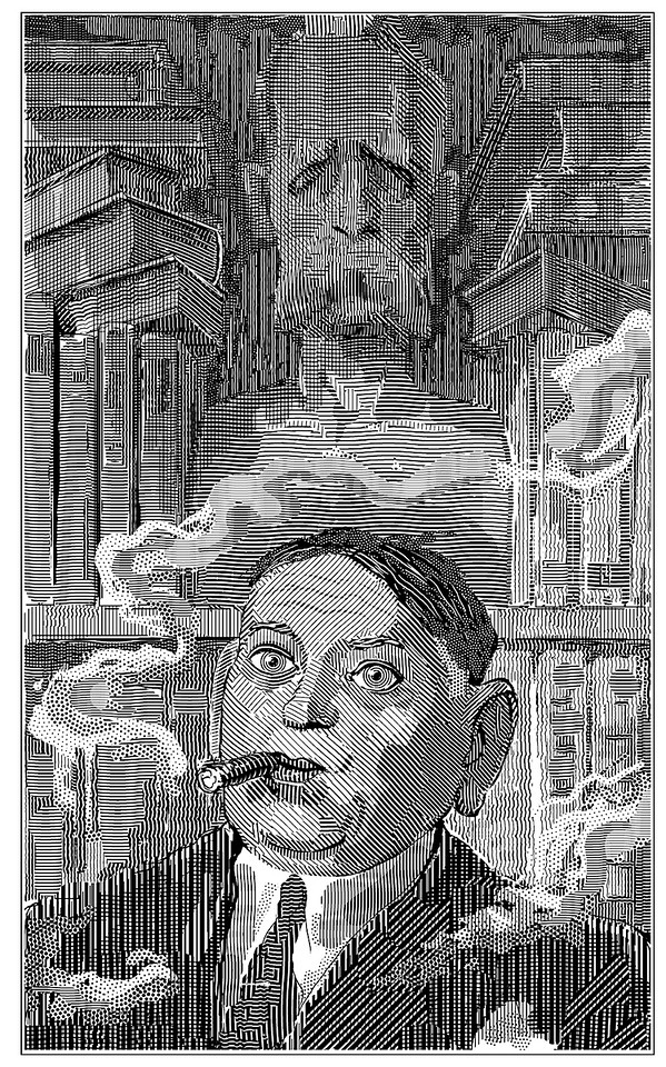H. L. Mencken; portrait from a book published by David Godine; 2006