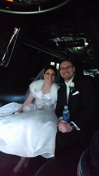 Tracy and Dan Schwab in the limo bus