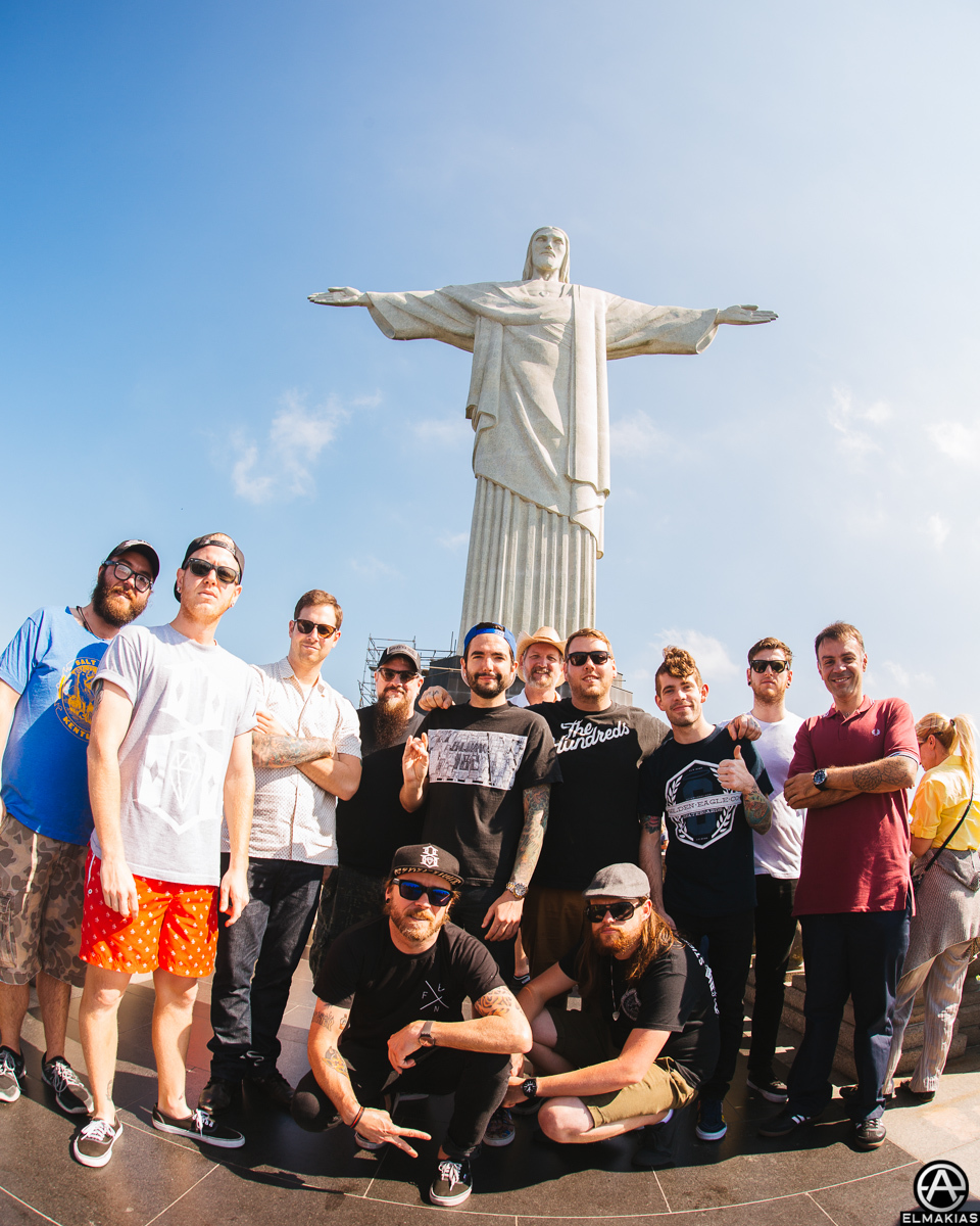 Christ the Redeemer with A Day To Remember band and crew