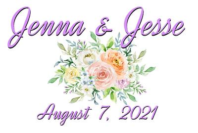 Wedding of Jenna and Jesse August 7, 2021 (Prints)