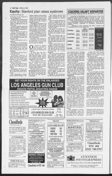 Daily Trojan, Vol. 119, No. 61, April 20, 1993
