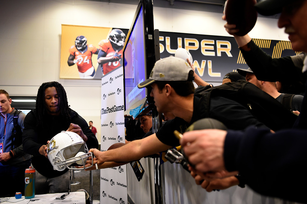 . SAN FRANCISCO, CA - FEBRUARY 05: Todd Gurley running back for the Los Angeles Rams on Radio Row in the Moscone Center in downtown San Francisco, CA. February 05, 2016 (Photo by Joe Amon/The Denver Post)