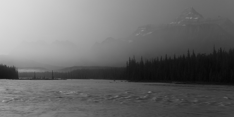 Mount Fryatt and Athabasca River