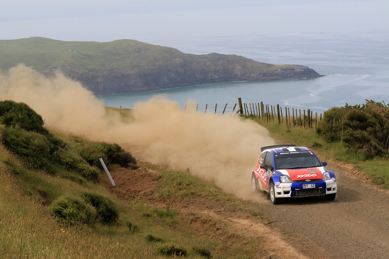 Dave Strong, Ford Fiesta S2000, SS2 Whaanga Coast 1.