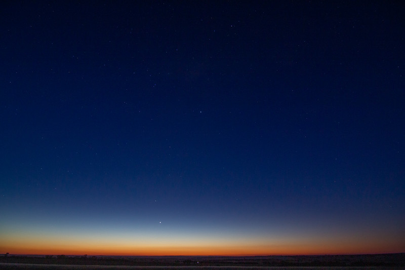Four planets at Sunset - 25/10/2019 (Single image)