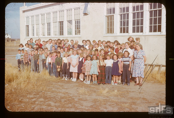 Frontier school staff  and students - Citizenship Day.  Frontier.  10/23/1952