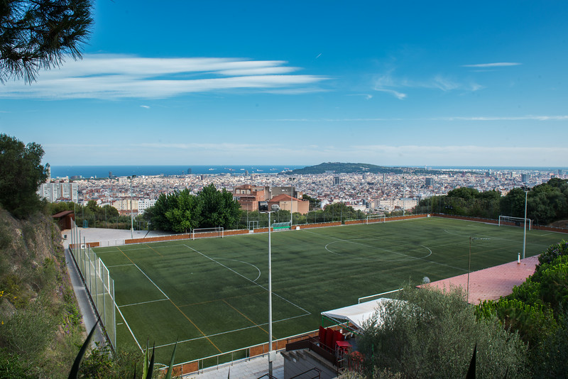 Football field with a view - Barcelona