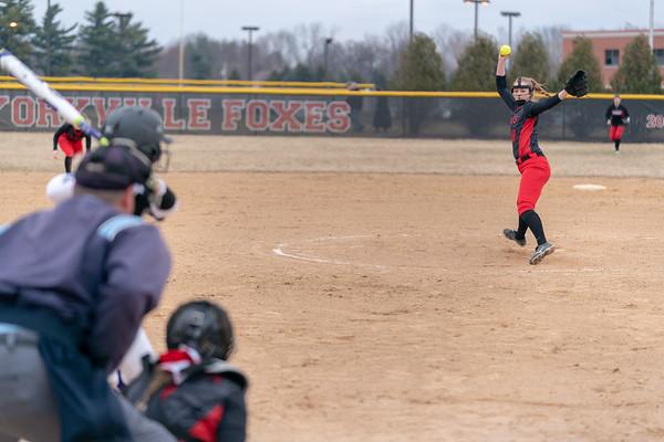 Yorkville softball vs. Hampshire - April 2, 2019