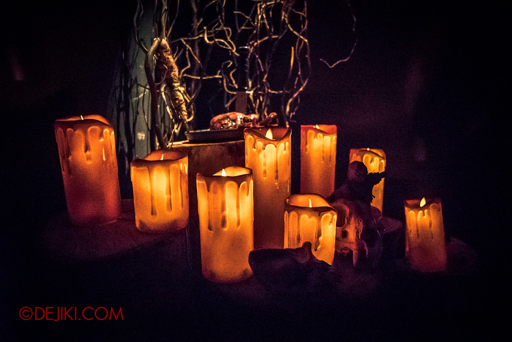 Halloween Horror Nights 7 Behind the Scenes: A Tour Inside HEX haunted house, candles