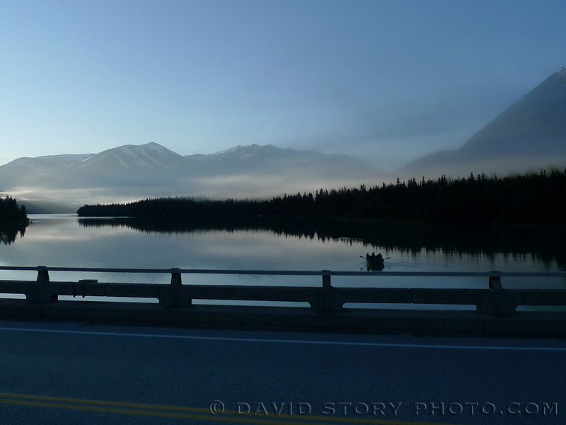 Morning breaks over the Kenai Lake Bridge.