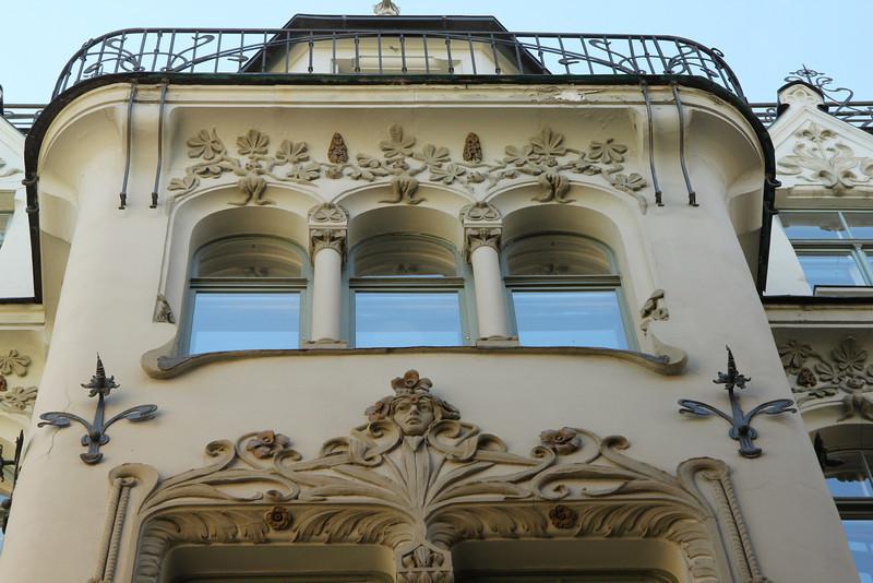Ornate designs  Old Town Riga