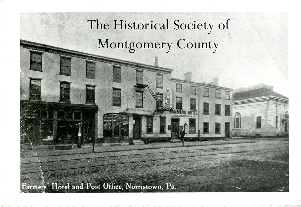 . This undated photo from the Historical Society of Montgomery County shows the Farmers\' Hotel on East Main Street in Norristown.