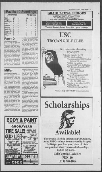 Daily Trojan, Vol. 126, No. 14, September 20, 1995
