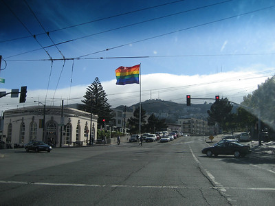 Rainbow flag on Market/Castro