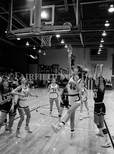1985 November Girls Northern B Tourney in Shelby, Fairfield vs Simms, Cut Bank