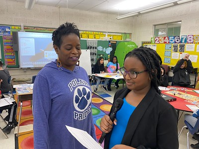 Carney Visits Pleasantville for NBA Math Event