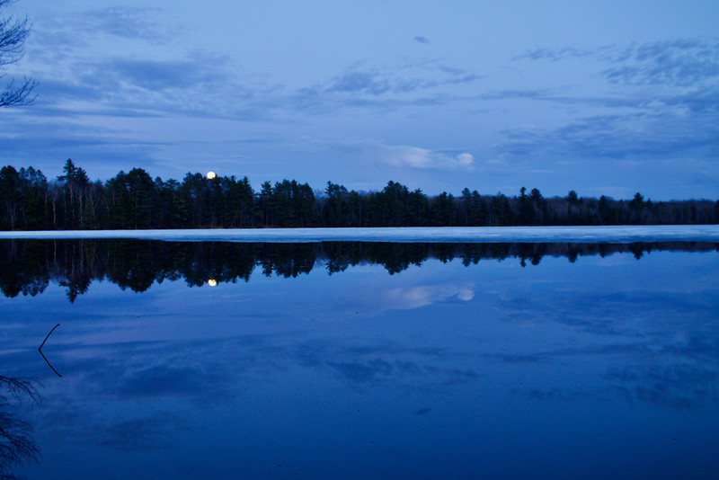 Moon Rise Perch Lake Chequamegon-Nicolet NF