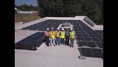 Cleveland Avenue Library solar panel drone photos