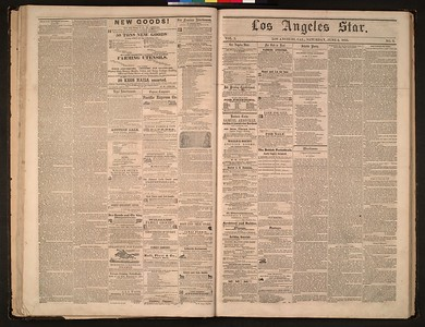 Los Angeles Star Collection, 1851-1864