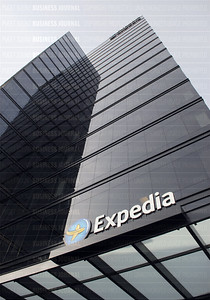 Expedia's building is pictured