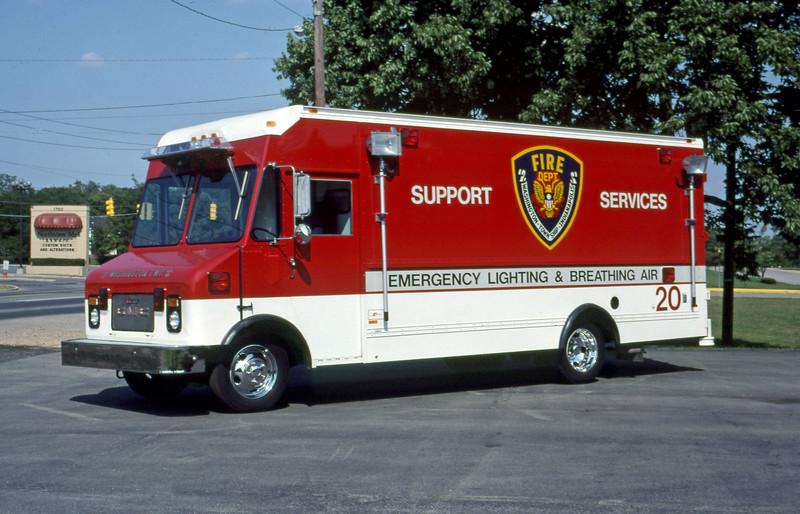 WASHINGTON TOWNSHIP FD IN  SQUAD 20  1987  GMC - SUPREME     MARK MITCHELL PHOTO.jpg