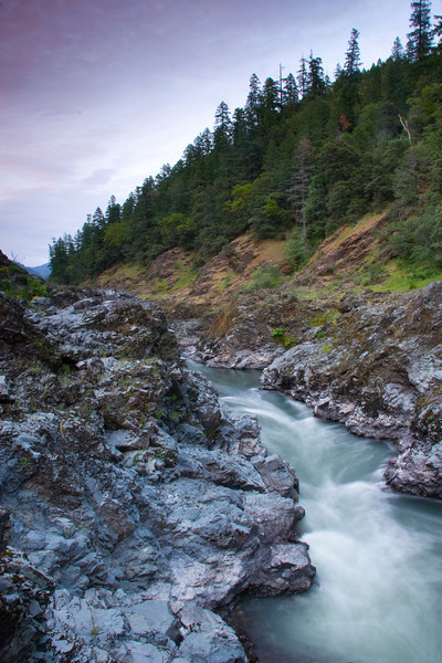 A rare moment standing over Coffepot Rapid at sunset.