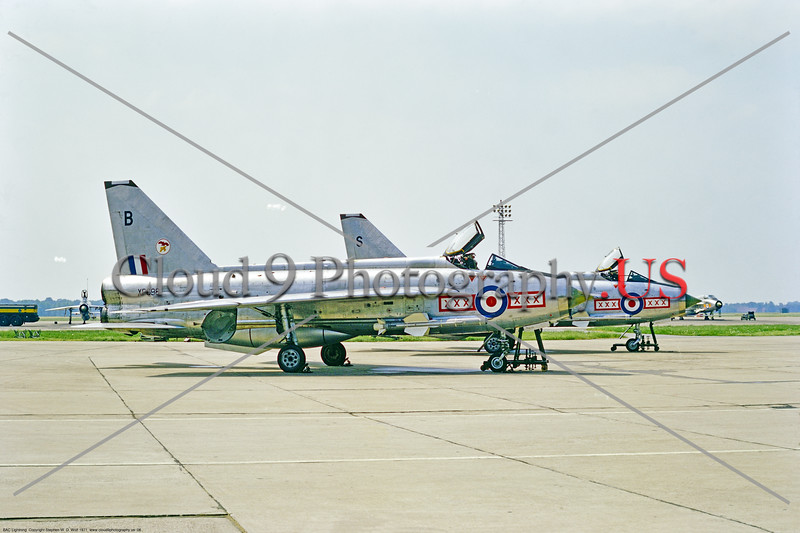 BAC Lightning 00006 Static highly polished bare metal BAC Lightning F.2A interceptors British RAF 19 Sqn. XP698 Gutersloh 1971, military airplane picture by Stephen W. D. Wolf     853_5466     DoneWT.JPG