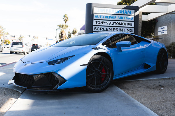SoCal Grafix Sheepey Race Lambo Wrapped in Smokey Blue