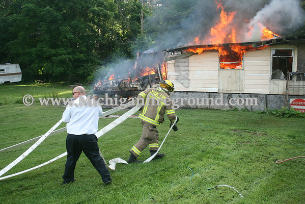 6/21/14 - Onondaga mobile home fire, 3901 Annis Rd