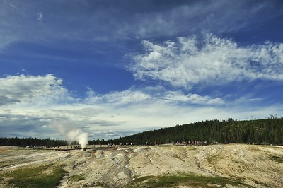 Beehive geyser in the Upper geyser basin of yellowstone national park, Wyoming, USA