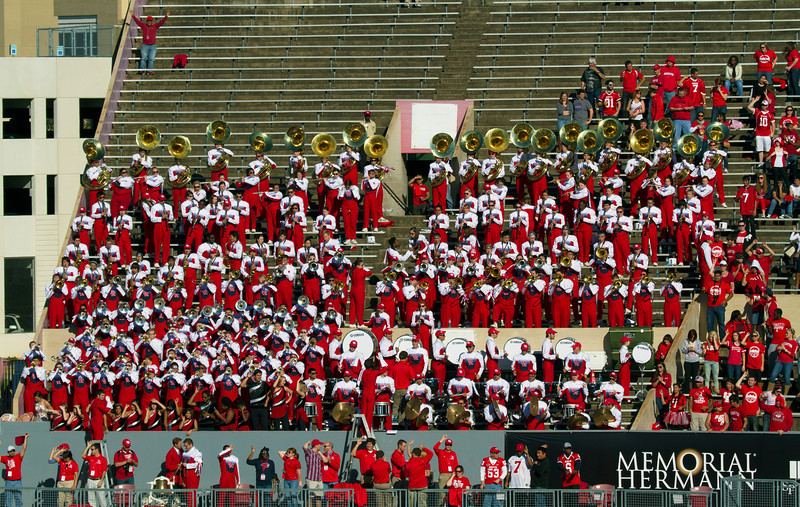 The UH band in the stands
