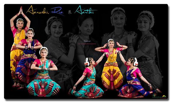 Aarushi, Ria & Aarthi's Pre-Arangetram Portraits 2021