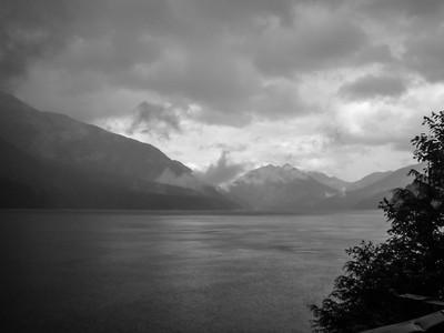 Rain on Lake Crescent