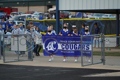 Grace Community School Football vs Beaumont Kelly High School by Melanie Johnson