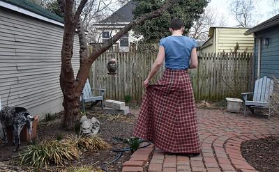 Shirts, a skirt, and a new platform