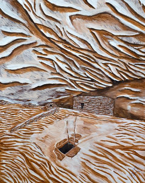 Grand Gulch acrylic painting, Bears Ears National Monument, San Juan County, Utah