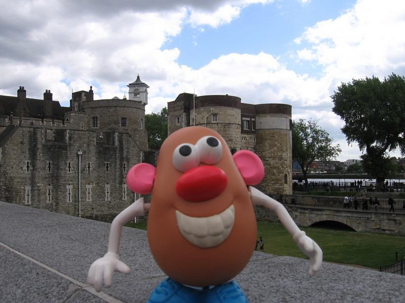 Mr. Potato Head at the Tower of London