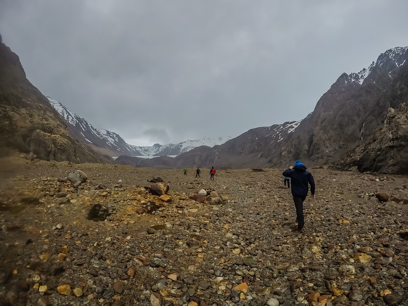 Hiking in Patagonia Argentina Laguna Toro Lina Stock