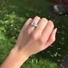 1.73ctw Blue Marquise Cut Diamond Trilogy Ring 13