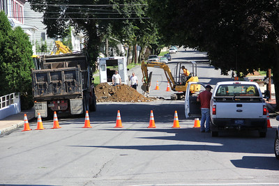 North Lehigh Street Closed, Water, Sewer Line Work, Tamaqua (7-29-2013)