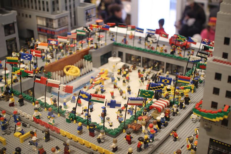 Rockefeller Center in LEGOs