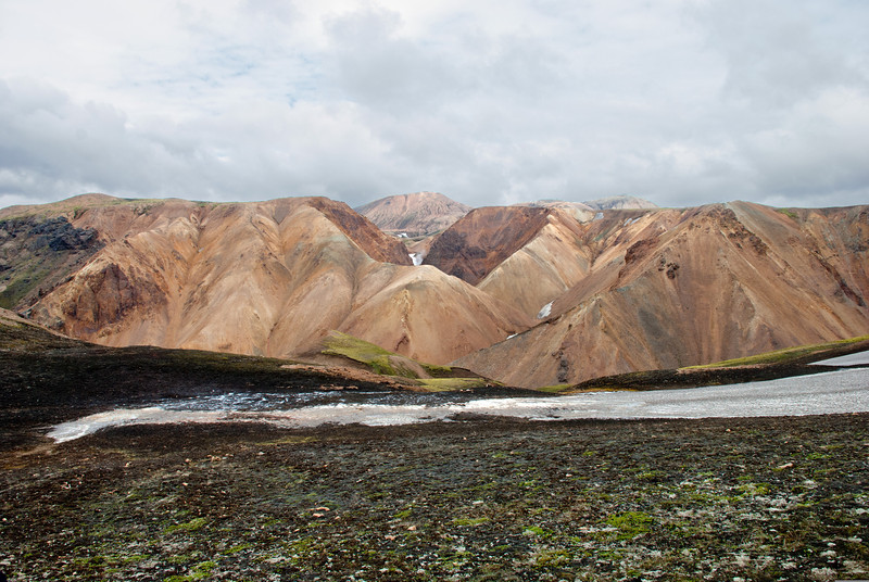 Farið að glitta í Ljósárfoss