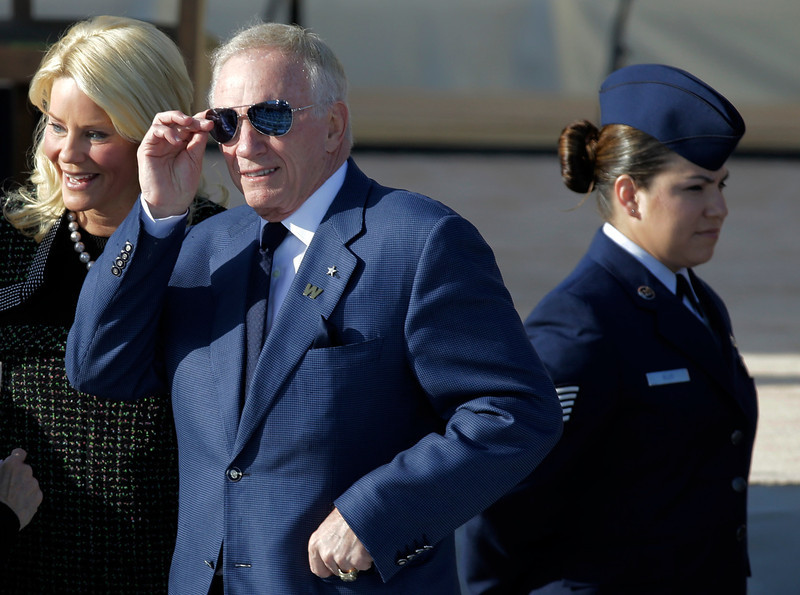 . Dallas Cowboys owner and general manager Jerry Jones during the dedication of the George W. Bush Presidential Center Thursday, April 25, 2013, in Dallas. (AP Photo/David J. Phillip)